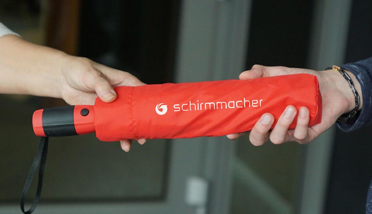 Regenschirme als Werbeartikel