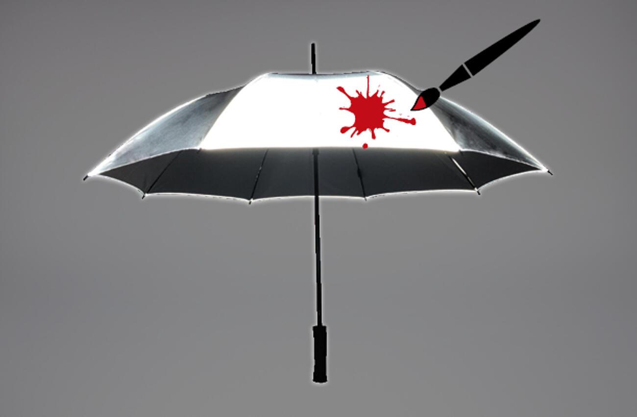 Reflektierende Schirme bedrucken