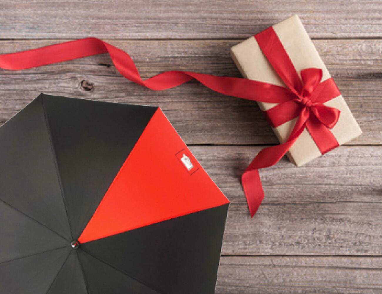 Bedruckte Regenschirme als Geschenkartikel