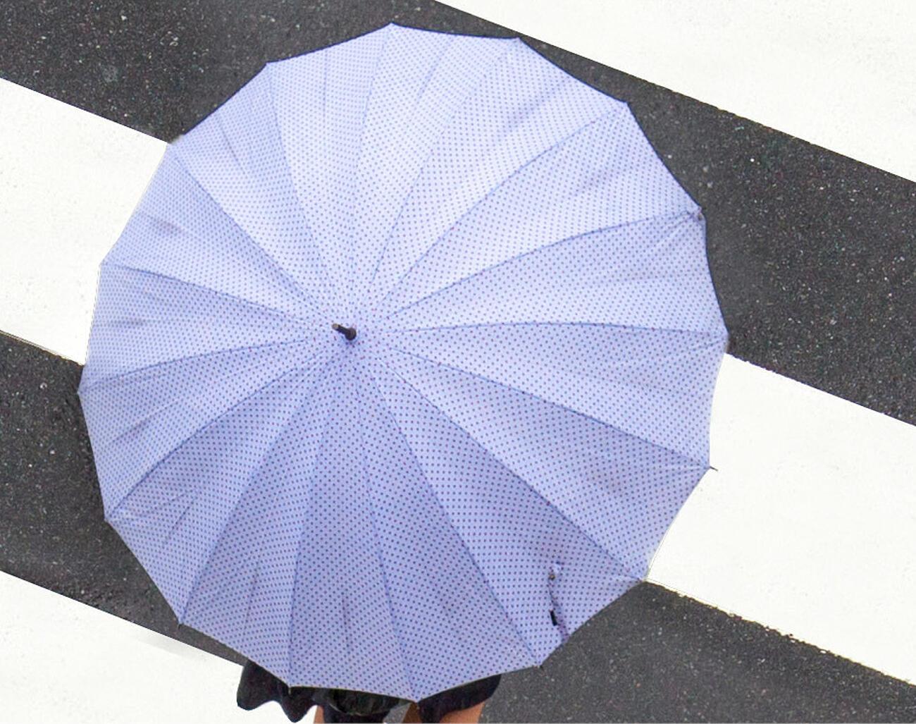 runder Regenschirm
