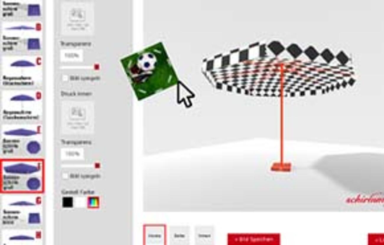 Online 3D Schirm-Designer