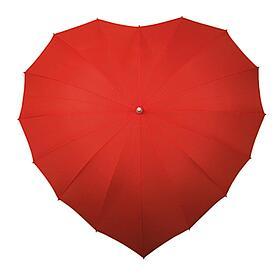 Herz Schirm von oben
