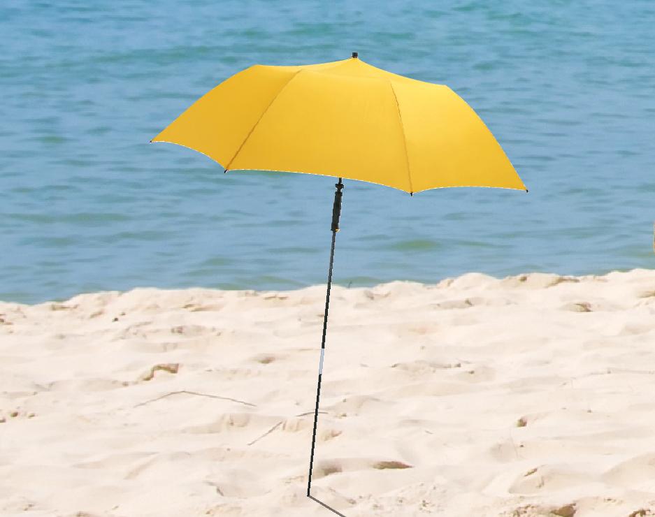 gelber Strandschirm