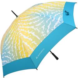 Regenschirm vollflächig bedruckt mit Firmenlogo auf jedem zweiten Segment