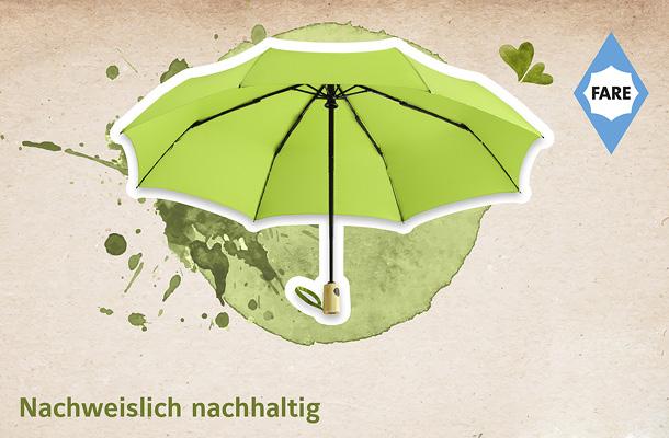 Nachhaltige Werberegenschirme