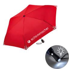 Schirm mit LED-Leuchtknopf
