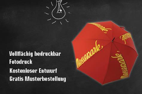 Regenschirme beidseitig bedrucken