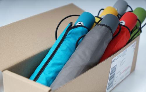 Paket mit Musterschirmen
