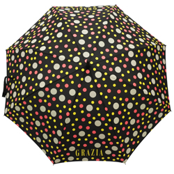 Punkte Regenschirm vollflächig bedruckt bunt