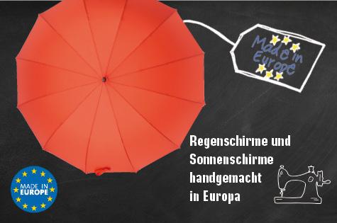 Schirme in Europa hergestellt