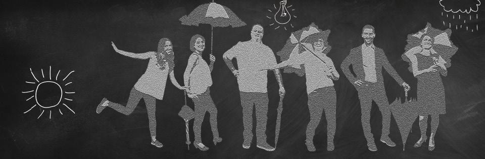 Das Schirmmacher Team als Relief-Gruppenfoto