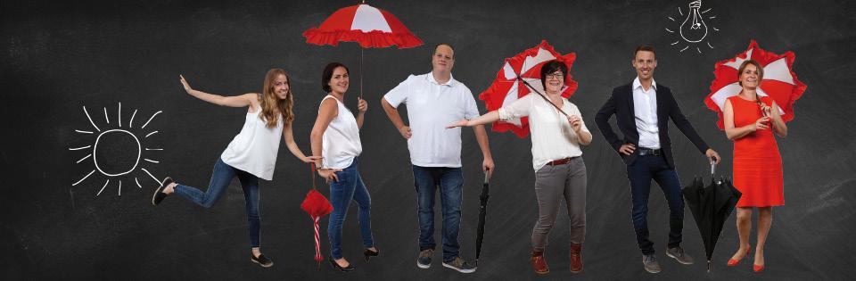 Schirmmacher-Team Gruppenfoto