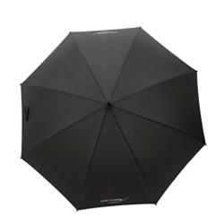 Schwarzer Schirm mit Logo