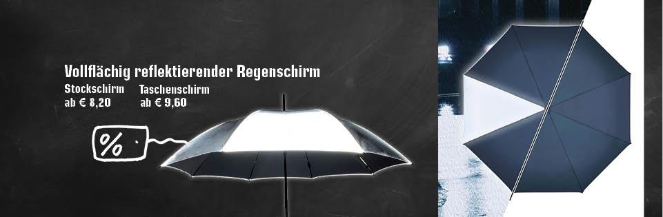 Reflektierende Regenschirme im Vergleich