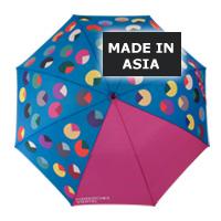 Regenschirme vollflächig bedruckt in Asien