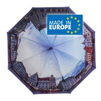 Regenschirme vollflächig bedruckt in Europa