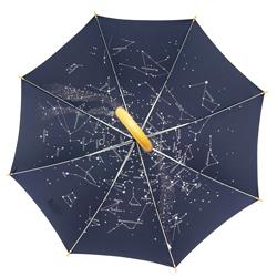Stockschirm mit Sternenhimmel und Schließband