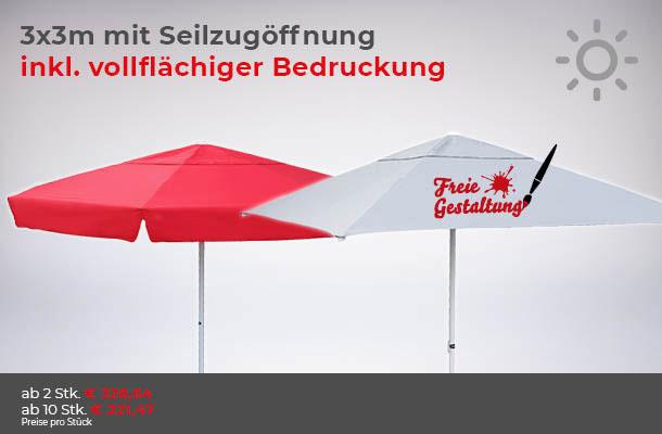günstiger Sonnenschirm in Aktion