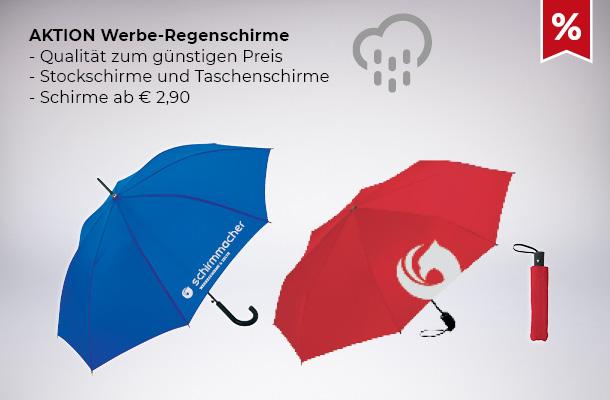 Aktion Werbe-Regenschirme