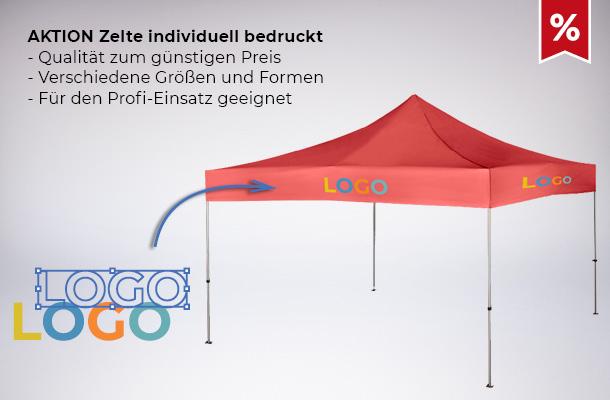Aktion Zelte individuell bedruckt