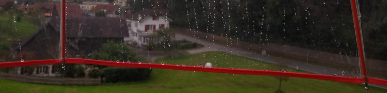Durchsichtige Regenschirme