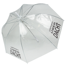 Transparenter Regenschirm Logo bedruckt Werbeschirm