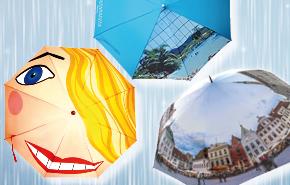 Schirm vollflächig bedruckt, Fotodruck