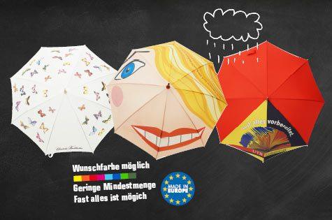 Regenschirme vollflächig bedruckt